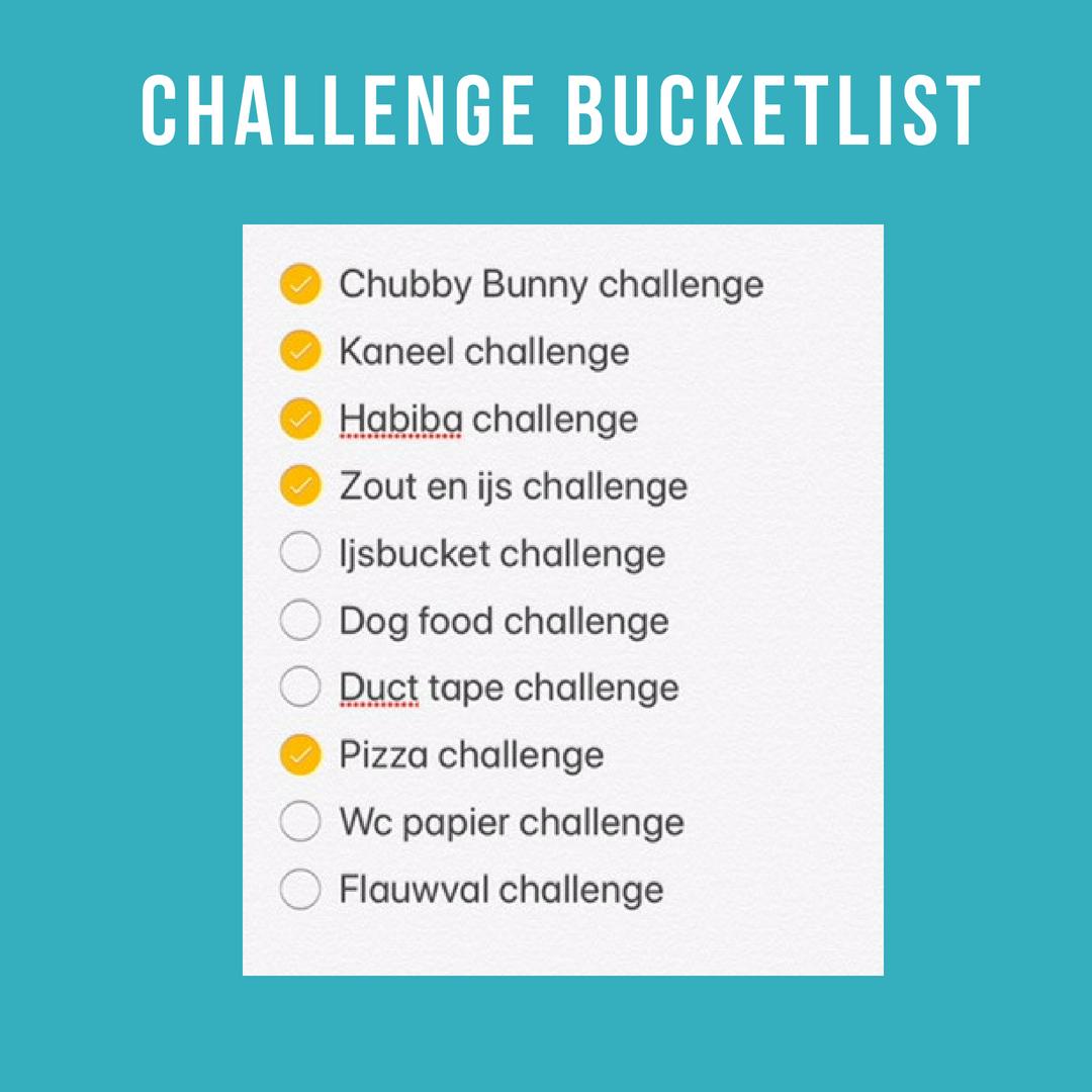 challenge bucketlist