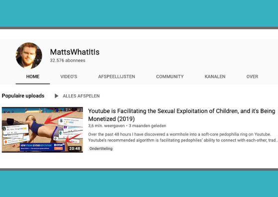 YouTube is facilitating the exploitation of children