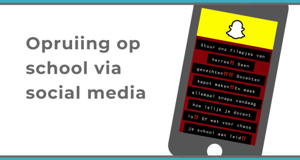 opruiing-op-school-via social media